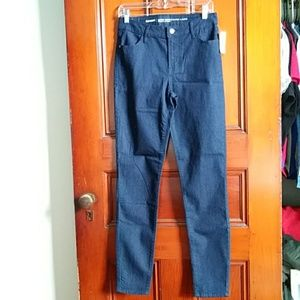 NWT Old Navy 6 Super Skinny Mid-Rise Dark Jeans